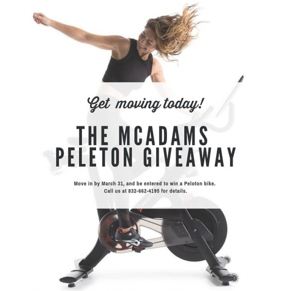 Get MOVING! Only 10 days until our giveaway ends. Move into The McAdams by March 31...