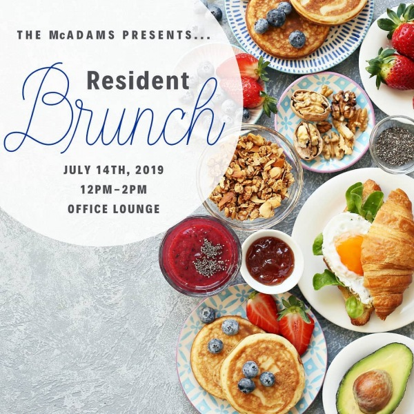 Spend your #sundayfunday getting to know your neighbors at The McAdams. Brunch will...