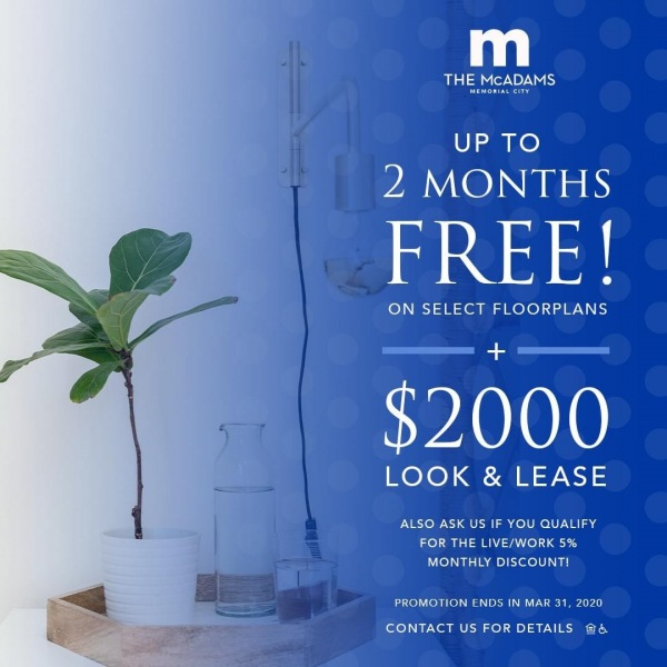 Make the move to The McAdams in 2020. Prospective residents, take advantage of up...
