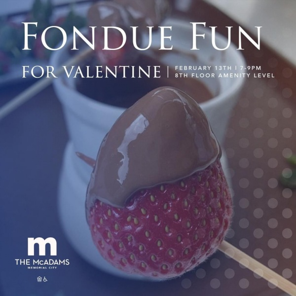Do we love our community? Yes, we fondue! Join us for a Fondue Fun for Valentine event,...
