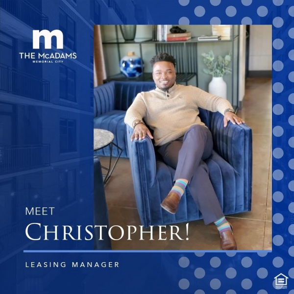 We have to give it up for our spectacular leasing manager, Christopher Lee! Christopher's...